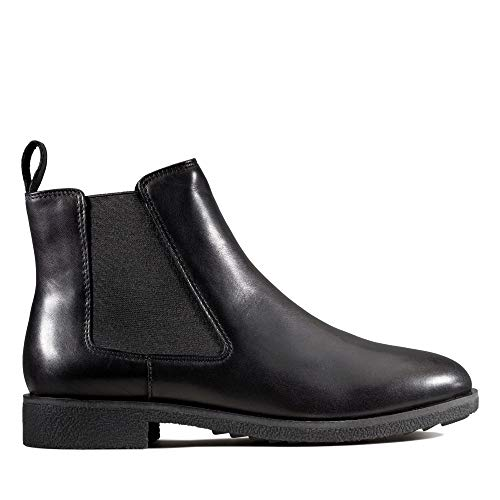 Clarks Damen Griffin Plaza Chelsea Boots, Schwarz (Black Leather), 39.5 EU
