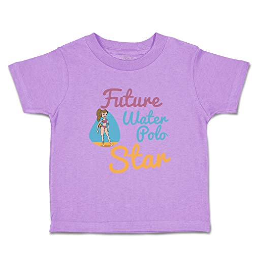 Custom Baby & Toddler T-Shirt Future Water Polo Player Sport Cotton Boy & Girl Clothes Funny Graphic Tee Lavender Design Only 4T