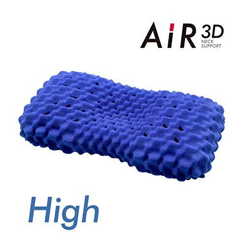 西川[エアー]エアー3Dピロー61X34X10cm凹凸形状ウレタンフォーム3次元立体構造フィット通気性エアーAiRブルーEH90135078B