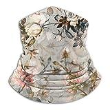 Lawenp Funda de algodón Funda de algodón Ramo de rosas Máscara de polaina de cuello Mascarilla de vellón UV