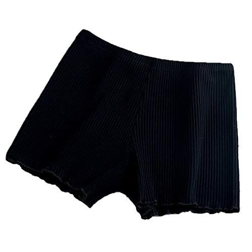 3°Amy Cintura Alta Braguitas Moldeadora Pantalones mujeres de las señoras de seguridad de Verano Tema acanalado de rayas y sin costuras Calzoncillos color sólido rizadas agárico Hem Calzoncillos Panta