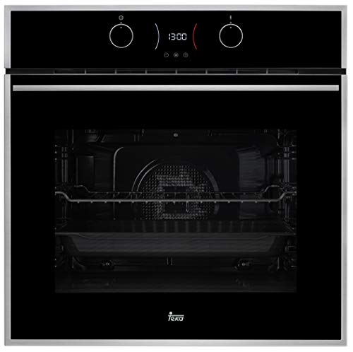 Horno Teka Pirolítico HB-74AR521E|  9 funciones de cocinado, Pantalla LED, Función descongelar, Touch Control con programación de inicio y paro de cocción,  5 alturas de cocinado y opción de Calentamiento rápido.