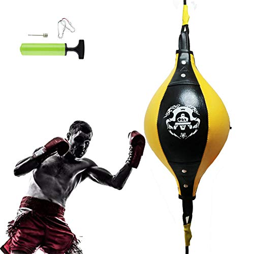 HIMACar Dekompression Doppelendball Aus Kunstleder, Professionell Boxing Speed Ball Set Universal Suspended Speedball Double End Boxing Ball FüR Das Reflex- Und Boxtraining
