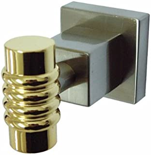 Kingston Brass BAH4647SNPB Fortress Robe Hook, Satin Nickel/Polished Brass