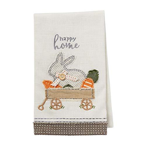 Bunny Wagon Applique Towel