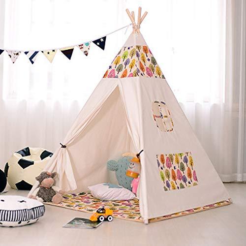 YYFZ Zelte für Mädchen Bett Zelte für Mädchen Disney Indoor Kletterzelt Baby Spielhaus Indisches Zelt Baumwolltuch Kein Geruch, Material, B, Einheitsgröße
