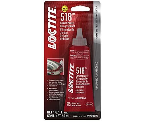 Loctite 518 Gasket Maker Flange Sealant, 50 Milliliter Tube (2096059)