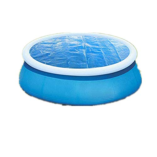 Solar Cover for 4/5/6/10/12ft Diameter Easy Set and Frame Pools Round Pool Cover Protector Foot Above Ground Blue Protection Swimming Simple Home Living Swimming Pool Cover Durable Pool Dust Cover