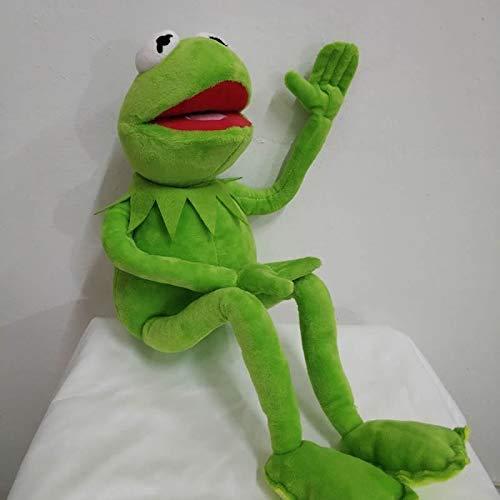 Boufery Anime The Muppets Kermit Frog Peluches, muñeco de Peluche Suave para niños, Regalo de cumpleaños para niños, 45Cm