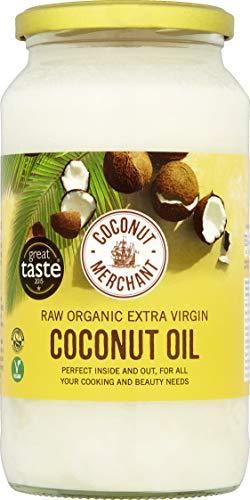 1L x2 Aceite de coco orgánico Coconut Merchant | Aceite Virgen Extra, Crudo, prensado en frío, sin refinar |Producido de forma ética, Vegano, Dieta Keto y 100{5ea7ea0f465f887433307519658ef31fef49809dd546089966ec24cde3524247} Natural |Para el pelo, la piel y Cocina