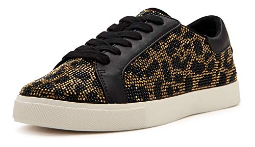 Katy Perry Damen The Rizzo Laceup Crystal Embellished Sneaker Turnschuh, Leopard Multi, 37 EU