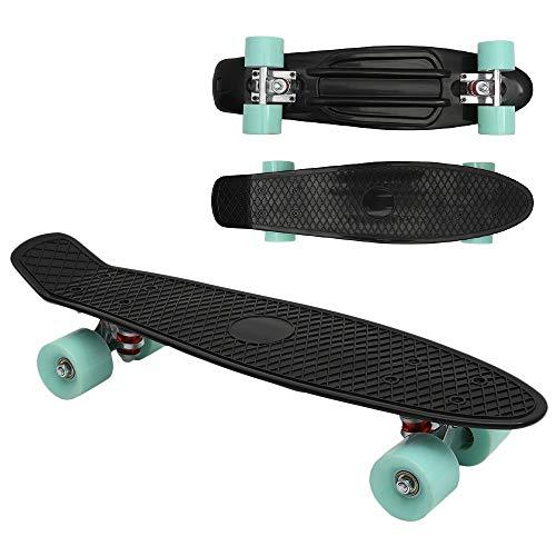 Keyohome Skateboard Cruiser 22 Pollici con 4 Ruote in Poliuretano Morbido per Adulti Bambini Principianti Ragazze e Ragazzi (Ruota ordinaria)
