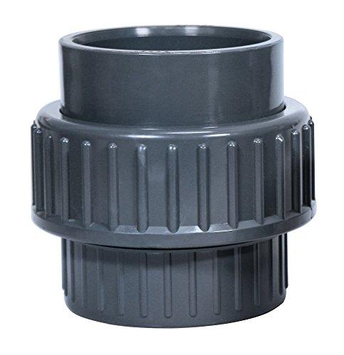 Oase 52114 PVC Accessoires d'embrayage pour Filtre Pompes et ruisseau, Gris, 24 x 15 x 1,5 cm