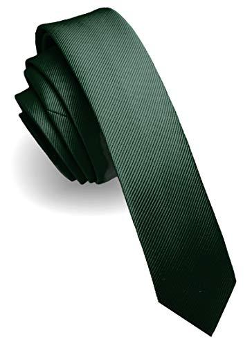 JEMYGINS Grün Krawatte Dunkelgrün Krawatten für Herren seide schmale Hochzeit Schlips (3)