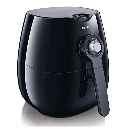 An image of the Philips HD9220/20 Air Fryer with Rapid Air Technology for Healthy Cooking, Baking and Grilling, Plastic, 1425 W, Black