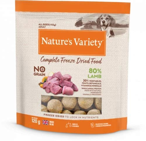 Natures Variety Dog Adult Freeze Dried Pure Whole Food Lamb 120G