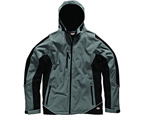 Dickies zweifarbige Softshell Jacke grau/schwarz GYB M, JW7010