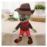 MUYANDZ Juguetes de Peluche Plantas vs Zombies Peluches 30 cm Plantas PVZ vs Zombies Sombreros Pirata Pato Zombies Peluche Peluche Juguetes muñecas Regalos (Color : Green Cowboy)