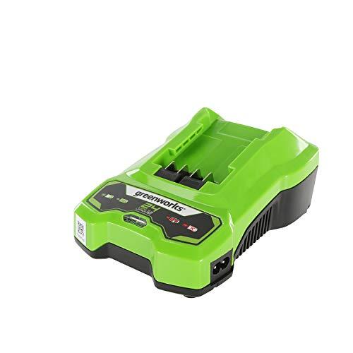 Greenworks Tools 24V Li-Ionen Ladegerät 48W Ausgang Geeignet für alle Batterien der 24V Greenworks Serie