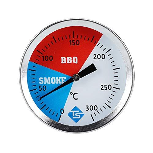 Räucherthermometer Edelstahl BBQ Thermometer Bis 300 ℃ Für Alle Grills, Smoker, Räucherofen Und Grillwagen, Analog, Grillzubehör
