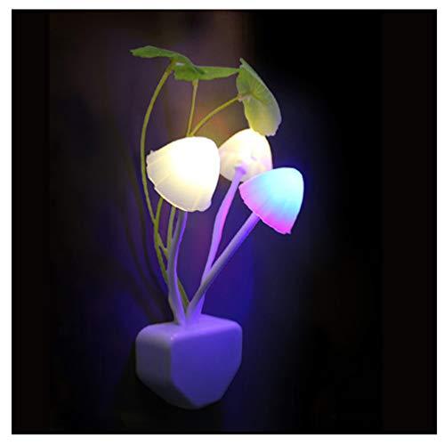 Lihua Led Pilz Sensor Nachtlicht Dekorative Lampe EU US Baby Kinder Neuheit Drahtlose Wandprojektor Nachtlicht