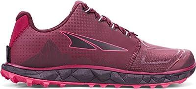 ALTRA Women's AL0A4VR4 Superior 4.5 Trail Running Shoe, Black/Pink - 7 M US