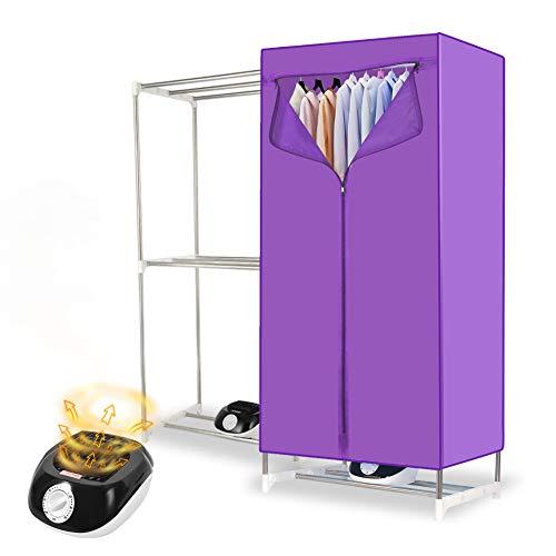 YJDQGYJ Eléctrico Secadora,Casa el Ahorro de Energía Secadora de Ropa,Dormitorio Guardarropa Mudo Secadora Eléctrica,Alta Capacidad Portátil Clothes Dryer 180Min / púrpura / 145x70x45cm