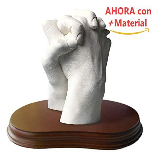 MOLDEARTEBABY UN RECUERDO INOLVIDABLE Haz una Escultura de Manos con tu Pareja, Manos Entrelazadas, Escultura Realista, Peana Incluida