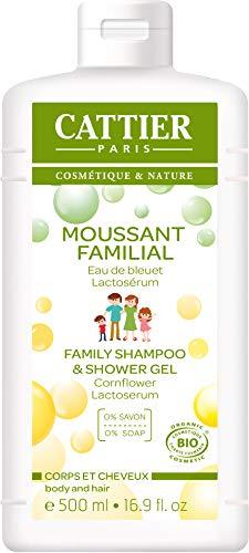 Cattier Moussant Familial au Lactoserum cheveux et corps 500ml