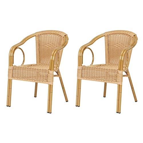 Lot de 2 fauteuils Ligure en polyrotin