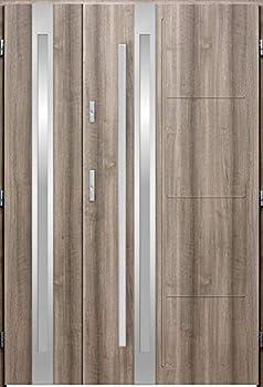 Galileo Duo - Double Entrance Door/Front Doors with sidelites/Entry Doors  Bleached Oak