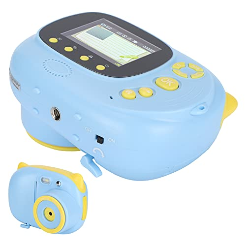 Kinder-Print-Videokamera, umweltfreundliche Blitzfunktion 7 Spezialeffekte Kinder-Print-Kamera für Kinder(blue, Pisa Leaning Tower Type)