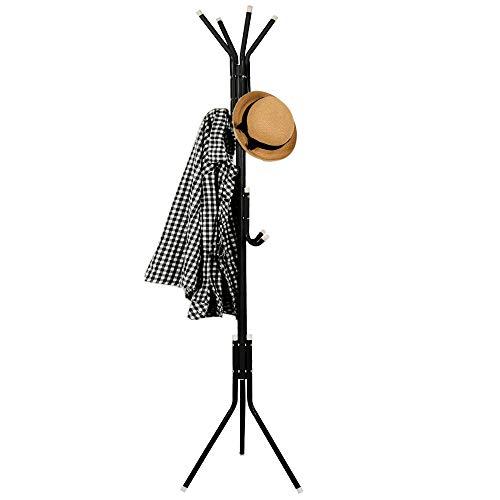 Springos Portemanteau sur pied - 12 crochets - Noir - Pour vêtements