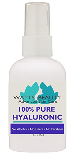 Anti Aging Wrinkle Serum of 100% Pure Hyaluronic Acid for Face - No Drying Alcohol, No Parabens, Vegan & USA - HA Is Not a Harsh Acid, HA is a Plumping Moisturizer That Decreases with Age