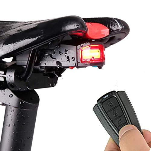 Fahrrad Rücklicht Alarm Diebstahlsicher Fahrradlicht StVZO Zugelassen COB LED Licht USB Aufladbar Fahrradrücklicht und Fernbedienung Sattelmontage Wasserdicht für Radfahren Rennrad MTB Fahrradlamp