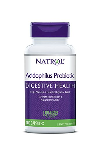 Natrol Acidophilus 100mg Capsules, 100-Count, 100 Ounce (Pack of 1)
