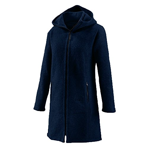 Mufflon® Damen Walk-Mantel Jana Schurwolle, Nightblue, Gr. L (44)