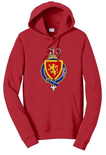 Tenacitee Unisex English Garter Family Talbot Hooded Sweatshirt, 3X-Large, Cardinal Red