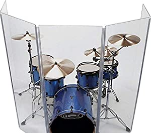 Drum Shield DS4 L 5 Section Drum Shield Acrylic Drum Panels with Flexible Hinges