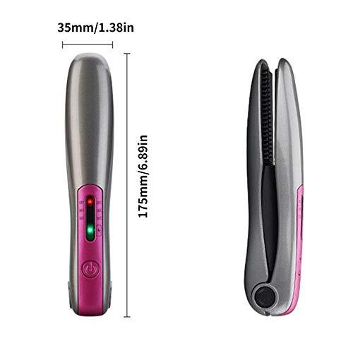 LDYJ Glätteisen Mini Tragbare Haarglätter Keramik Lockenstab USB Aufladen 2 In1 Professionelle Wireless Haarglätter Bügeleisen Glätteisen Locken Und Glätten