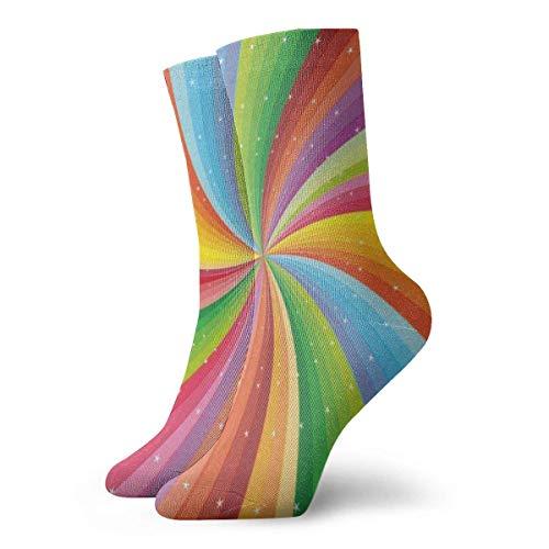 Calcetines Coloridos Arcoíris Inspiradores Mujeres Calcetines Deportivos Calcetines Navideños Liquidación Para Niños