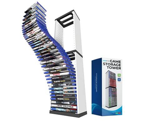 Skywin PS5 Game Holder Game Storage Organizer - 36 CD Game Holder Disk Tower for PS5 - Game Box Storage Tower