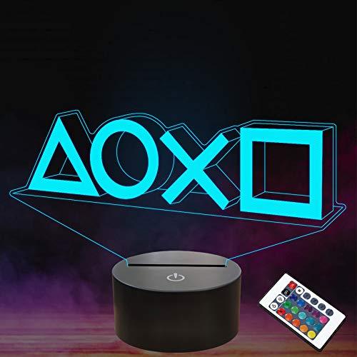 FULLOSUN Illusion-Nachtlicht 3D,LED-Tisch-Schreibtisch-Lampen, 16 Farben USB-Lade, die Schlafzimmer-Dekoration für Kinder Weihnachten Halloween-Geburtstagsgeschenk beleuchten