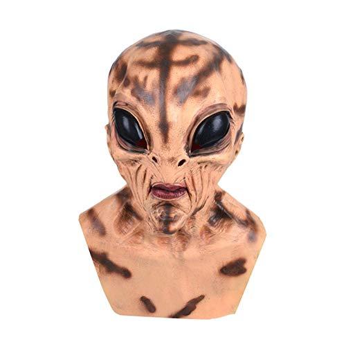 FENGLI Diadema realista de Halloween para adultos de piel humana realista hecha a mano de silicona, accesorio para fiestas (color: B)
