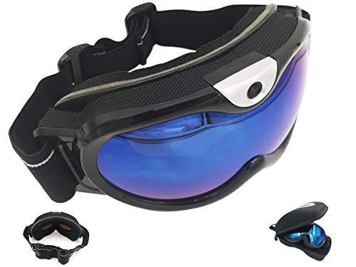 FocusHD Skiing Goggle Wireless Video Camera,Snowboarding Eyewear WiFi Action Camcorder 1080P Double Glazing Anti-Fog Anti-Glare UV Protection 16GB Memory Integrated