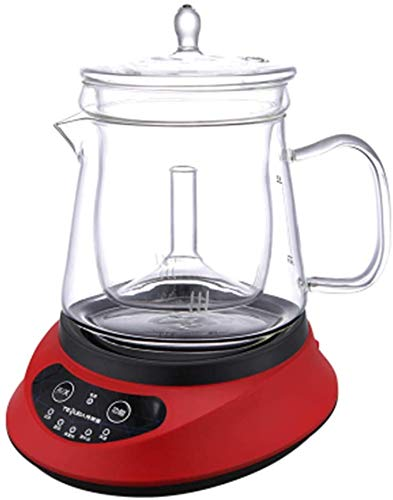 Health Pot Stewed Bird's nest Automatic Thickening Glass Home Multi-Function Electric hot Tea Cooking fine stewing Beauty Beauty,Glamour Red