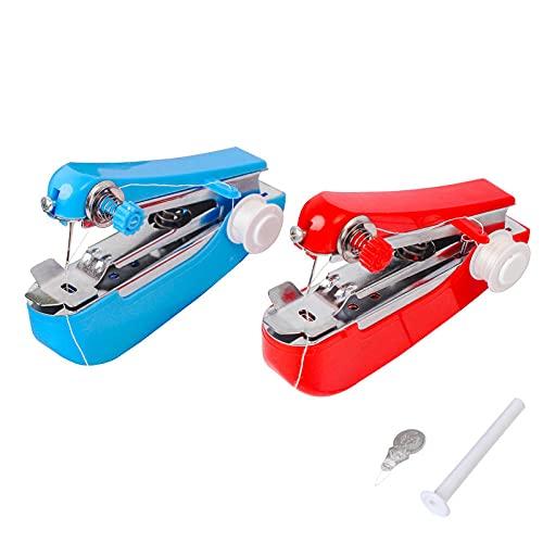 Máquinas de Coser Manuales, Máquinas de Coser Portatiles, Mini Máquina de Coser Portátil de Mano Adecuada para Uso Doméstico Viajes Cortos Ropa Tela de Reparación Rápida Bricolaje