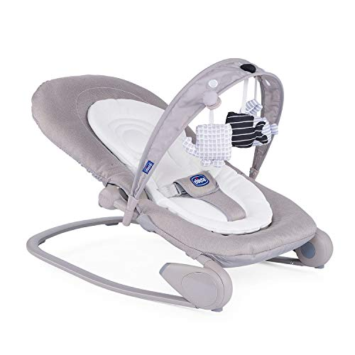 Chicco Hopplà Babywippe von Geburt bis 18 kg, Für Neugeborene oder Kleinkinder, Babyschaukel und Babystuhl, Mit Spielbogen und Sitzverkleinerer, Verstellbare Rückenlehne, Kompakt zu verstauen