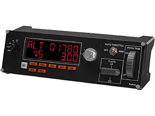 Logitech G Saitek Pro Flight Multi-Panel, Autopilot-Controller für Flug Simulatoren, LCD-Display, Automatische Schubregelung, Echtzeit-Anzeigen, Dedizierte Bedienelemente, USB-Anschluss, PC - schwarz