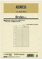 日本能率協会 A5サイズリフィル A5501 ADDRESS バインデックス 【× 2 パック 】